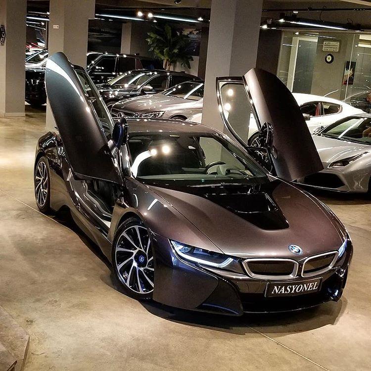 Bmw I8 Plug In Hybrid Coupe Sophisto Grey Metallic With Bmw I Frozen Blue Charcoal Black Leather Bmw Bmwi8 Electriccars I8 Bmw Bmw I8 New Luxury Cars