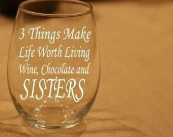 Funny Wine Glass Tumbler for Sister Sister Birthday Gift Sister Cup Sister-in-Law Gift