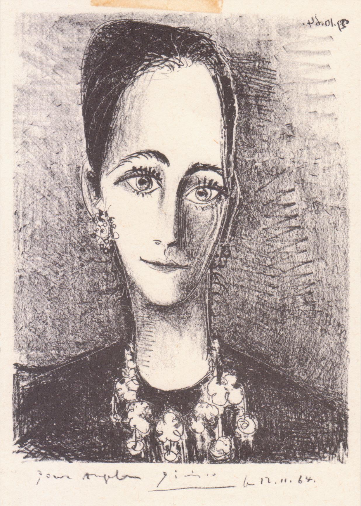 Pablo Picasso - Retrato de la señora Rosengart