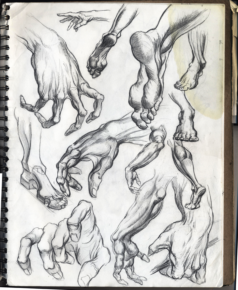 Sketchgroup: Hand and Foot sketches | Comics + Characters + ...