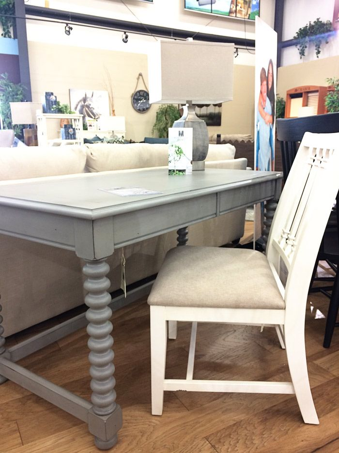 Magnolia home furniture spool leg desk find my real life review of joannas new furniture line on the blog fixerupper magnoliahome