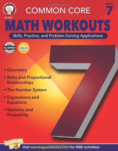 Common Core Math Workouts, Grade 7 [Book] | Amazon Top Rated
