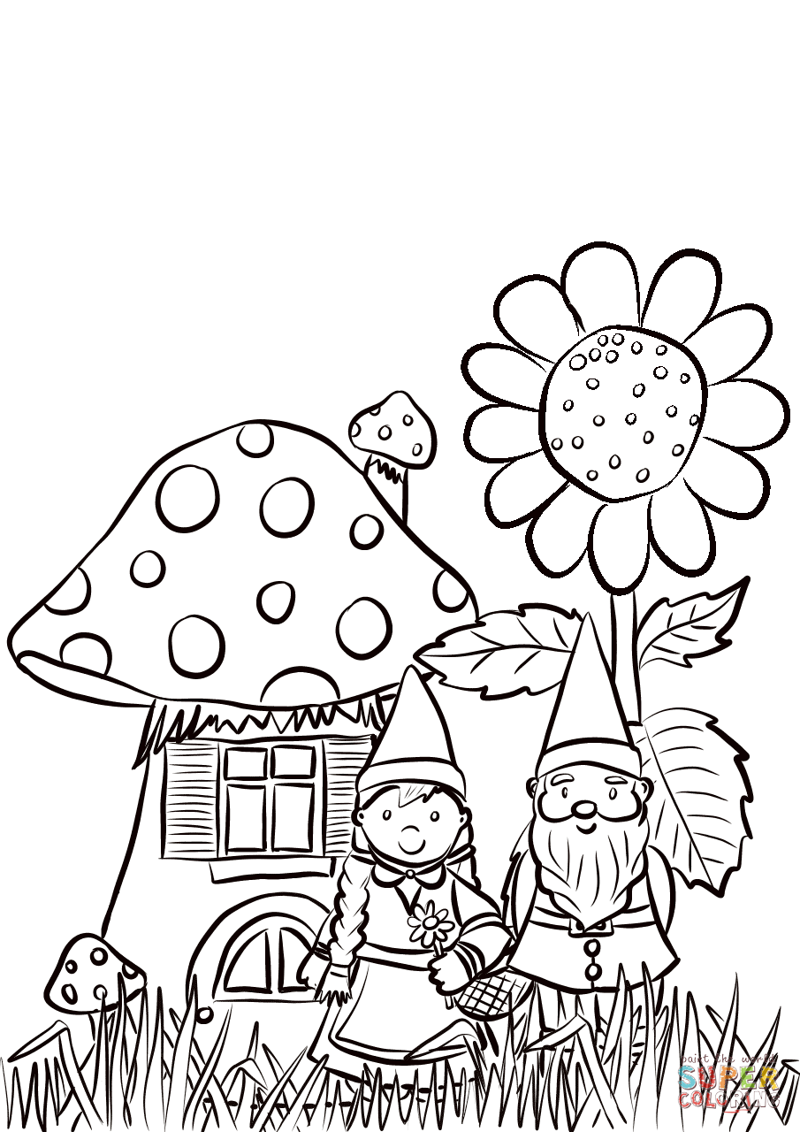 Garden Gnomes Family Coloring Page Free Printable Coloring Pages Family Coloring Pages Family Coloring Garden Coloring Pages