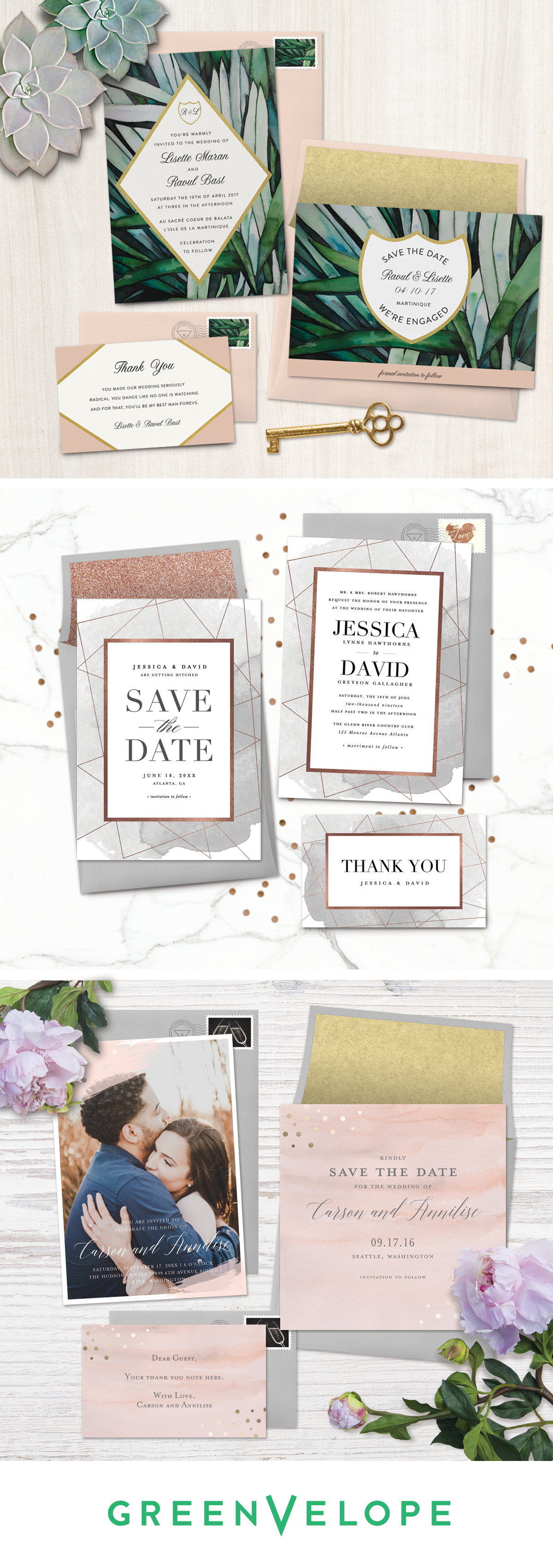 Chic, paperless wedding invitations that come complete with ...