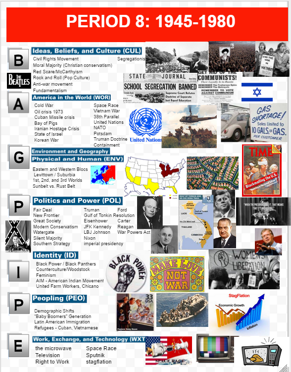 Period 8 - 1945-1980 - APUSH Heritage | APUSH | World