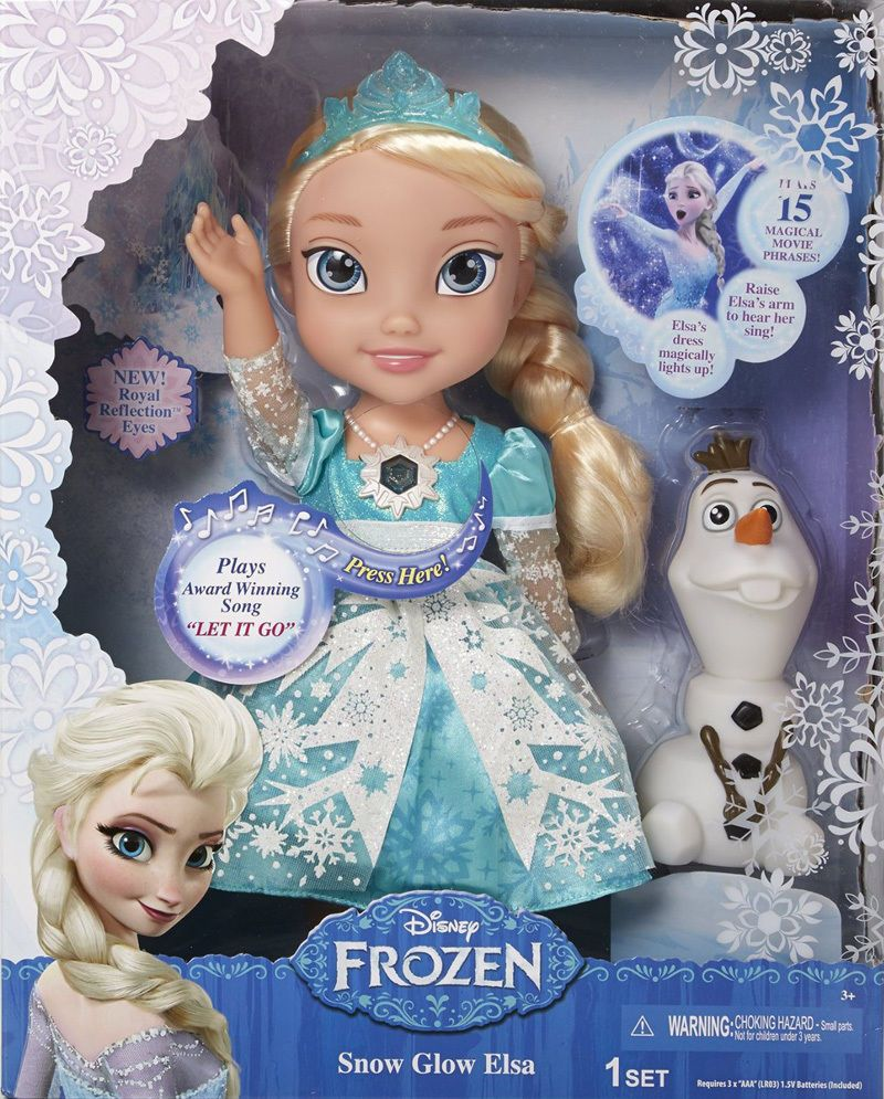 Frozen Elsa Doll Snow Glow Singing Disney Princess Lights Up Sings Let It Go