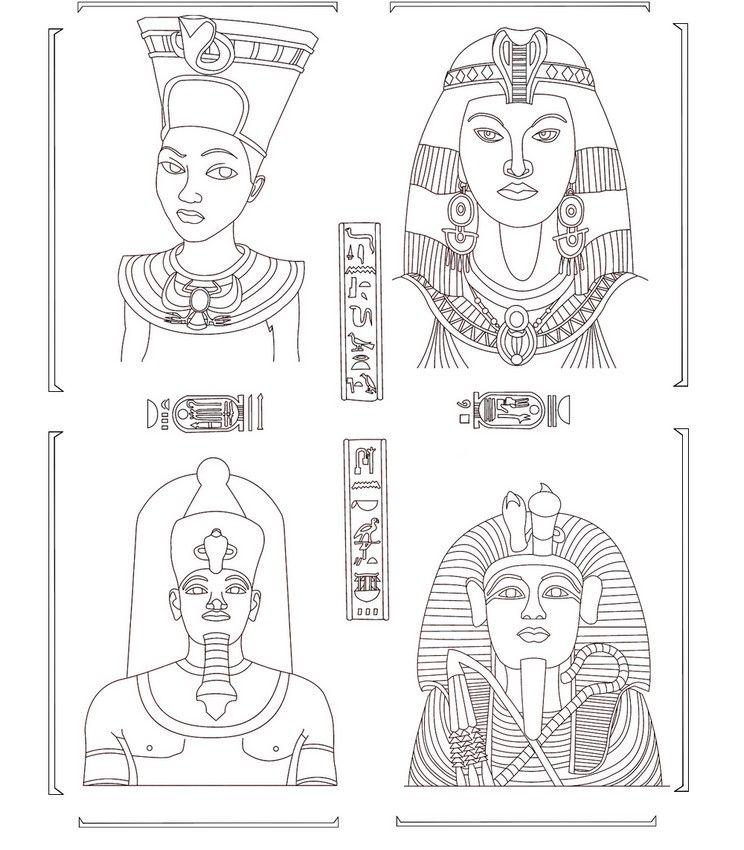 Ägypten: ägyptische Götter | Coloring | Pinterest | Ägyptische ...