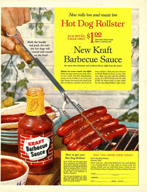 Kraft Hot Dog Rollster Hot dogs, Food drink, Hot