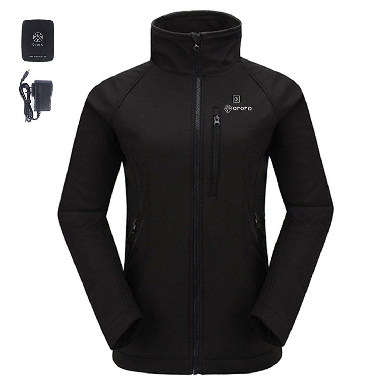 ororo women's slim-fit wireless heated jacket kit with battery&
