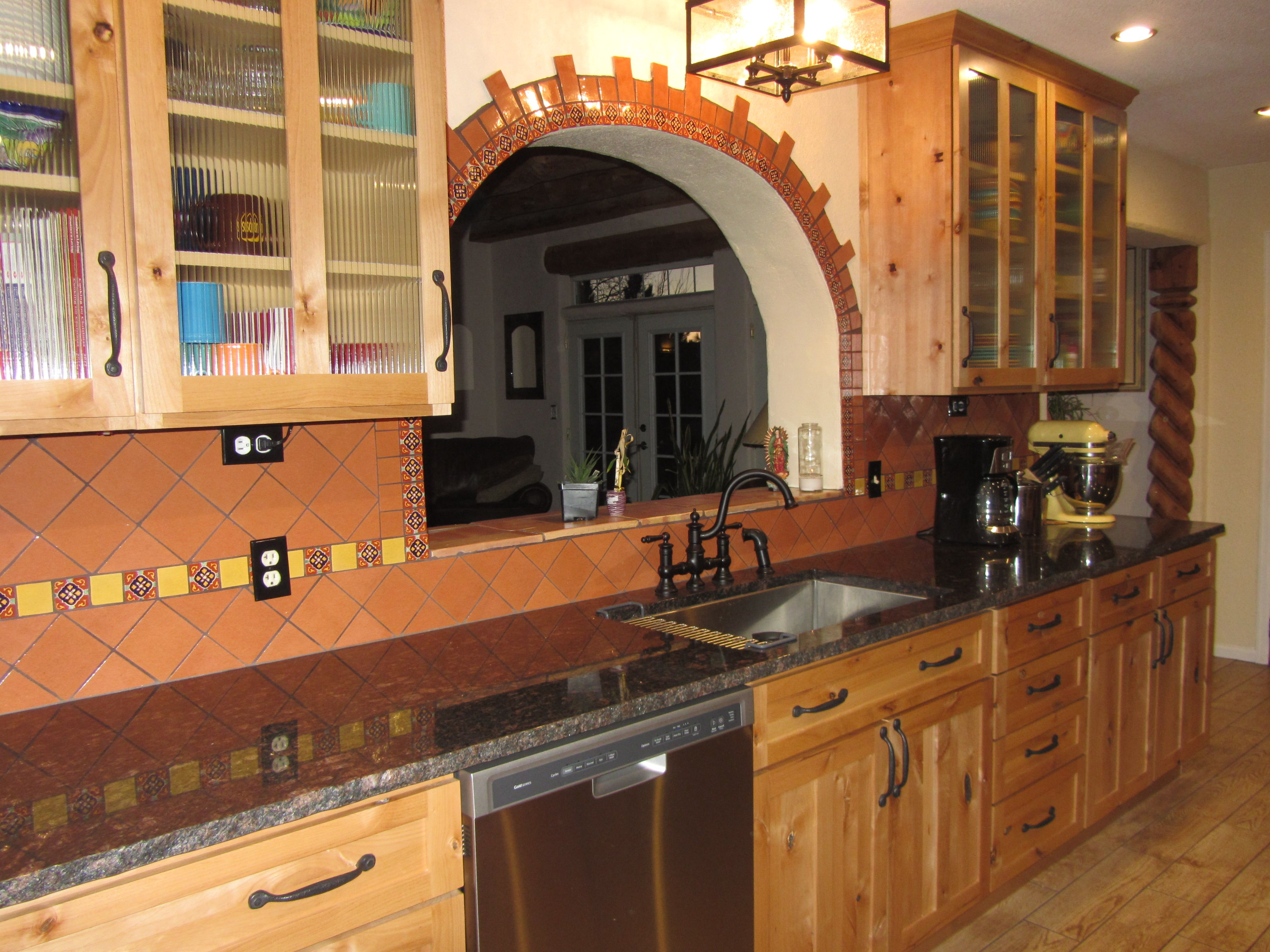 Rustic Mexican Kitchen Mexico House House Mexican Kitchens