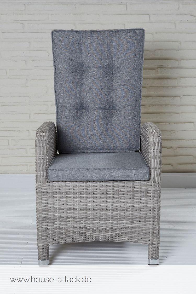 Lc Garden Positionsstuhl Verstellsessel Nizza Dining White Grey Gartenstuhle Gartenmobel Esszimmer Mobel