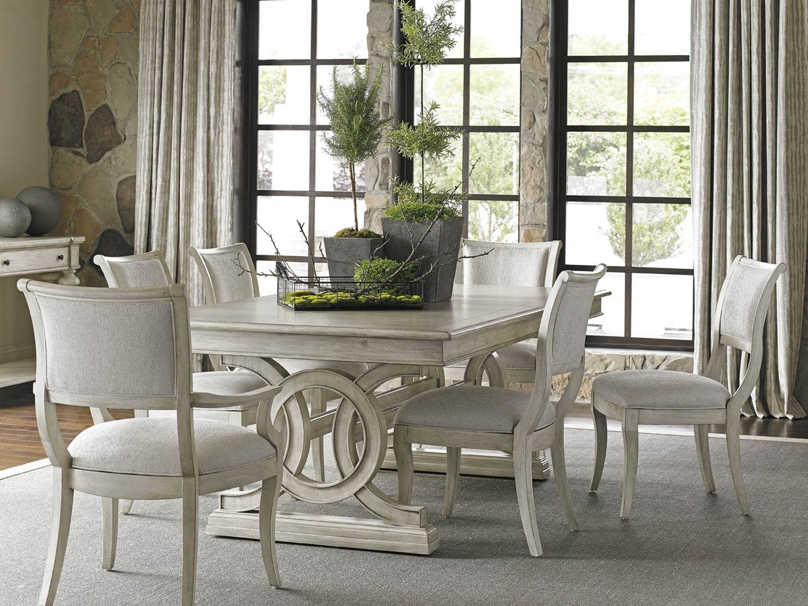 Lexington Oyster Bay Montauk 7-Piece Rectangular Dining ...