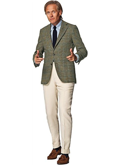 Ongekend Suitsupply Jort green check tweed sport coat | My Style | Green CN-06
