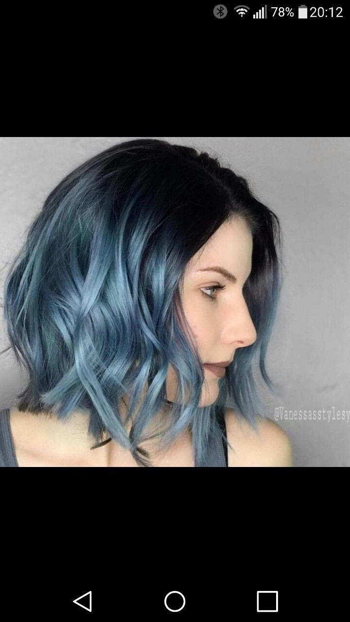 Black Roots And Light Blue Ombre Hair So Pretty Blue Ombre Hair Light Blue Hair Short Ombre Hair