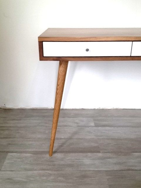 Jeremiah Collection Mid Century Desk With by jeremiahcollection #Desk #furniture #workstation #table