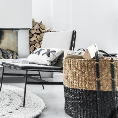 Design Vintage Large Dipped Baskets Black Dipped Laundry Decoracion De Interiores Diseno De Interiores Decoracion Para El Hogar