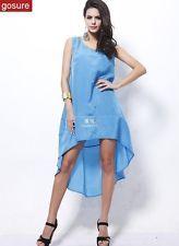 New 2015 Sexy Summer Fashion Women Chiffon Sleeveless Lady Evening Beach Dress
