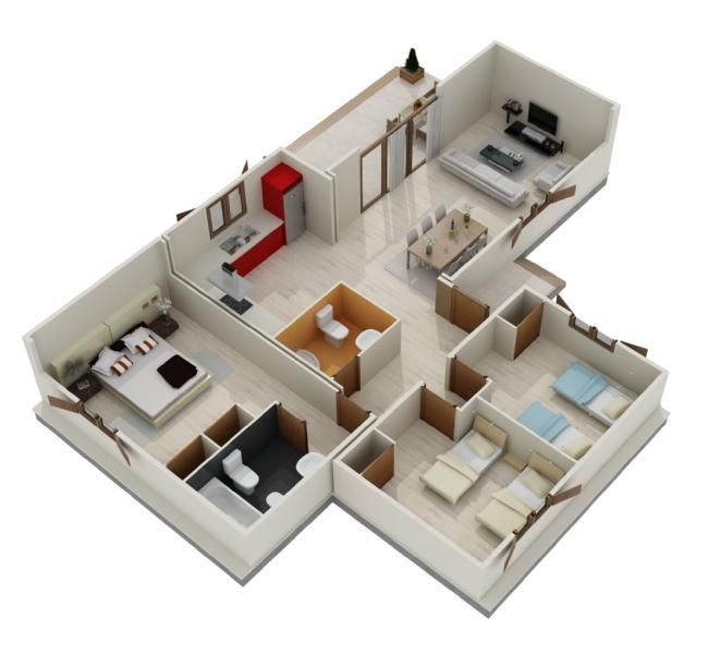Casa prefabricada de madera cubik105m2 grupoelcid - Planos casas modulares ...