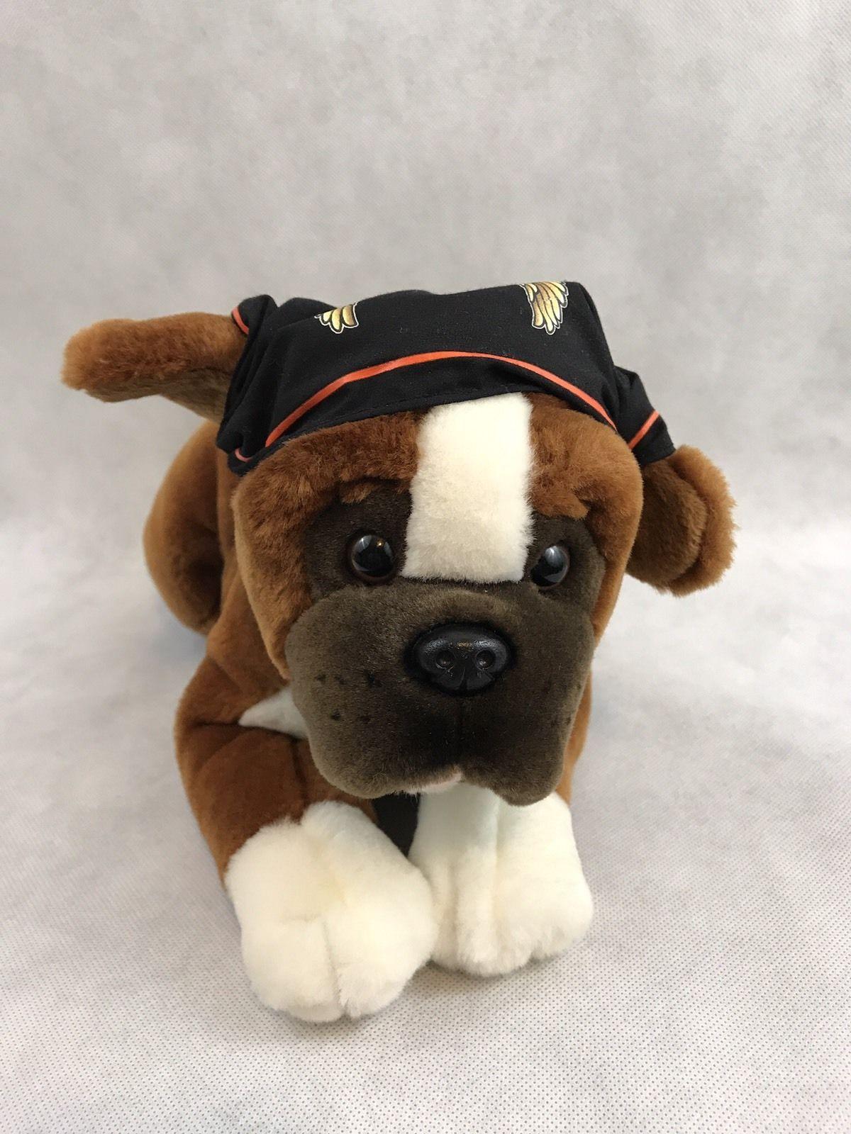 Harley Davidson Boxer Dog Tank Stuffed Animal Plush Wearing A