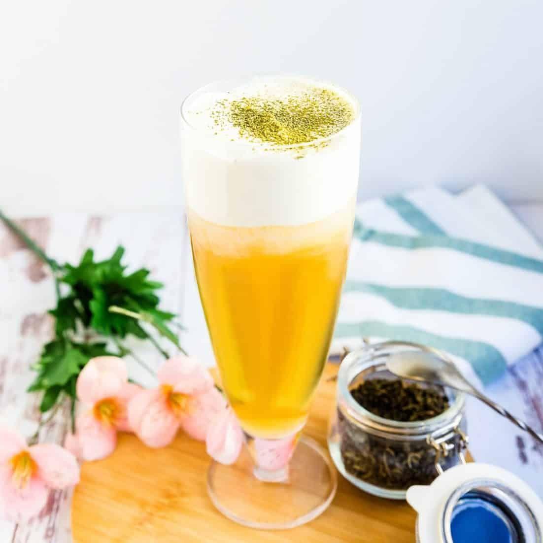 Photo of Cream Cheese Foam Green Tea | LowCarbingAsian