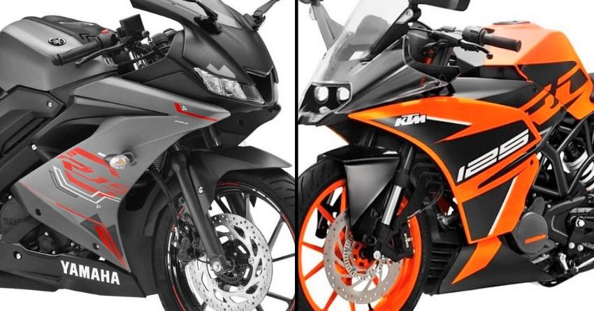 2020 Yamaha R15 V3 Vs Ktm Rc 125 Quick Comparison En 2020 Motos