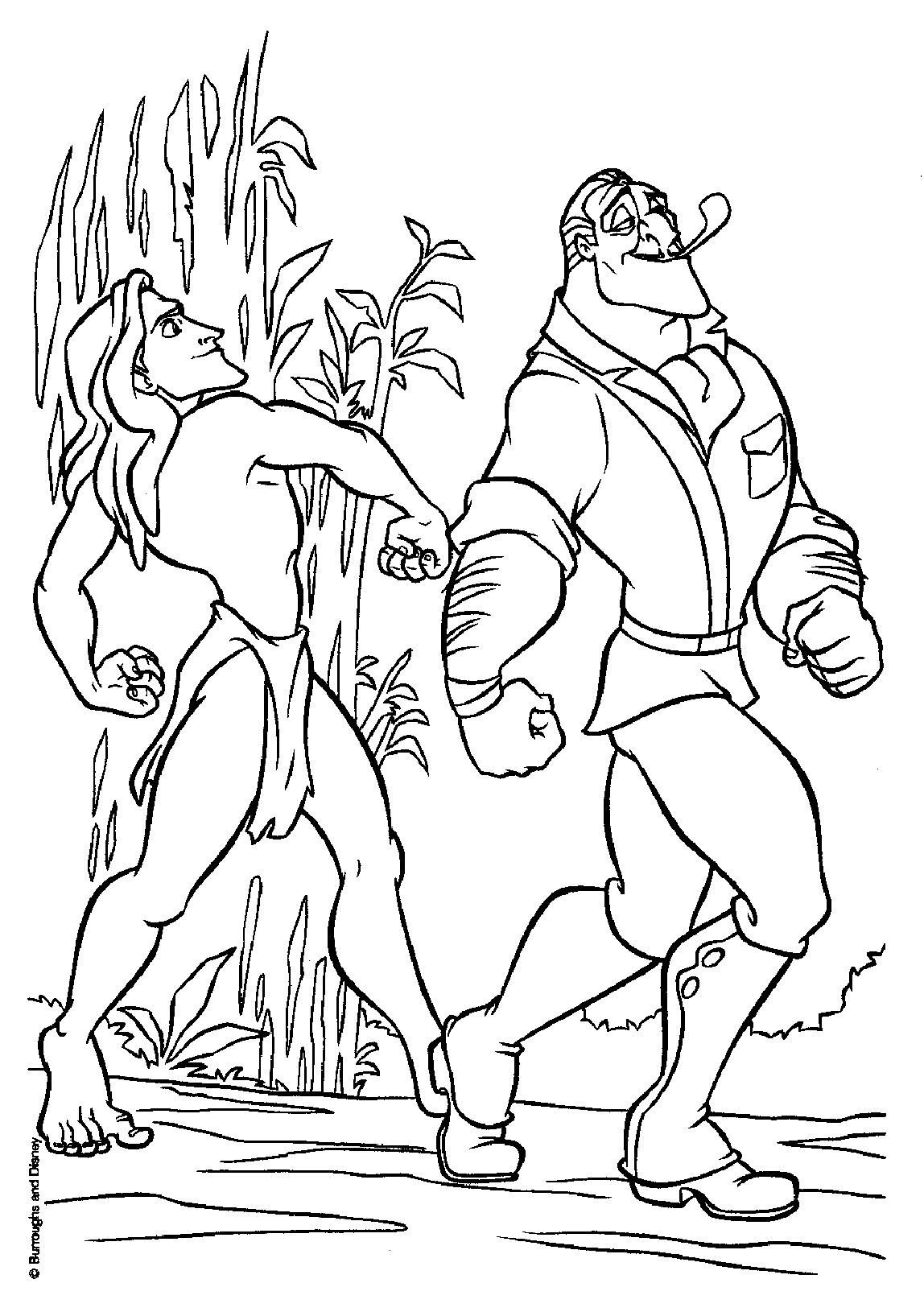 tarzan023.jpg (1148×1635) | color pages | Pinterest | Coloring books