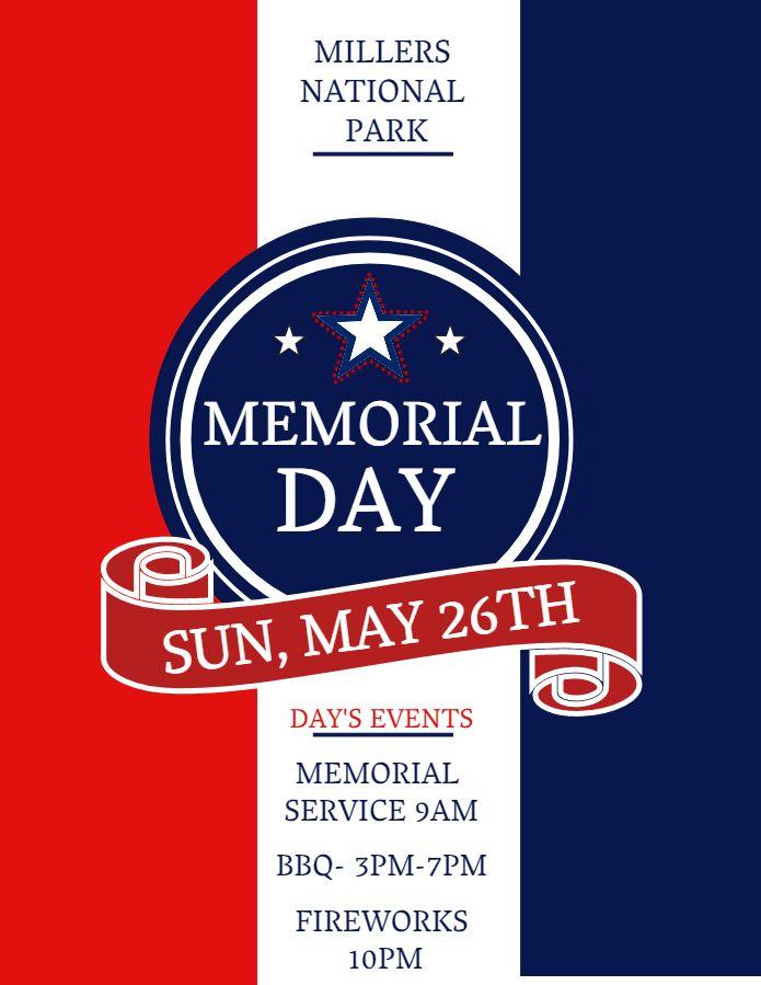Memorial Day service invitation idea Click to customize Memorial
