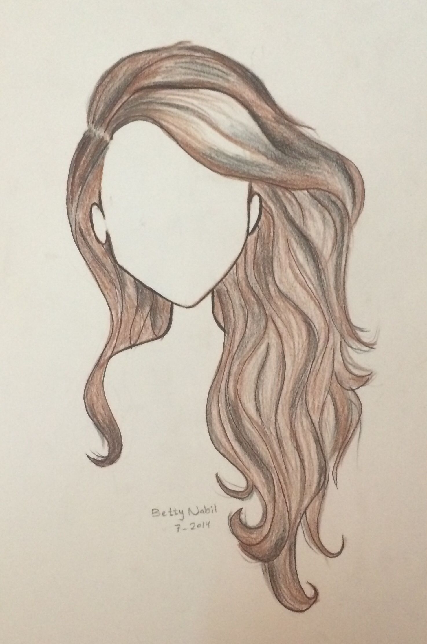 draw wavy hair draw pinterest drawings how to draw hair and