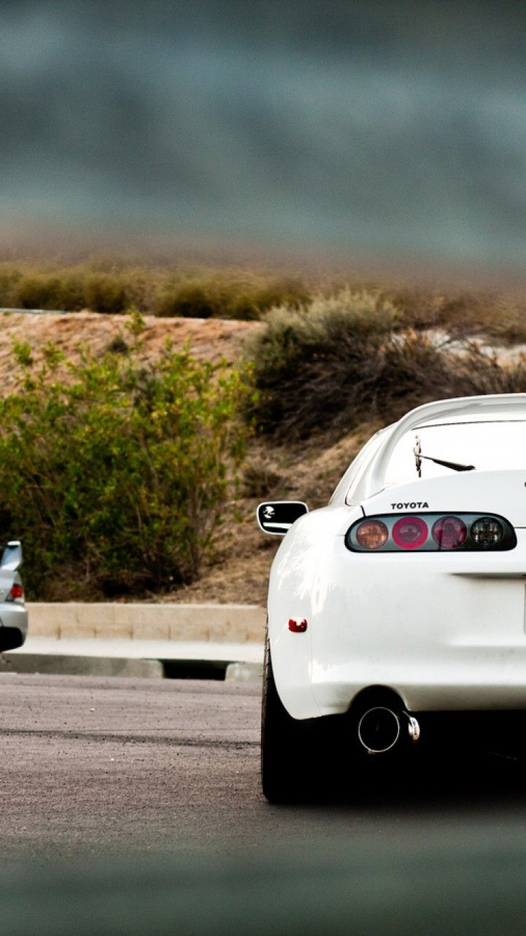 there 39 s a evo in the background jdm toyota supra. Black Bedroom Furniture Sets. Home Design Ideas