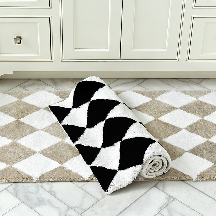 Harlequin Bath Rug Let S Play Chess Home Decor Black White
