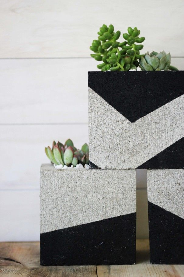 Summer Style Diy With Kids Modern Contemporary Style On The Cheap Excellent Summer Project With Kids Diy Plant Stand Cinder Block Garden Cinder Block