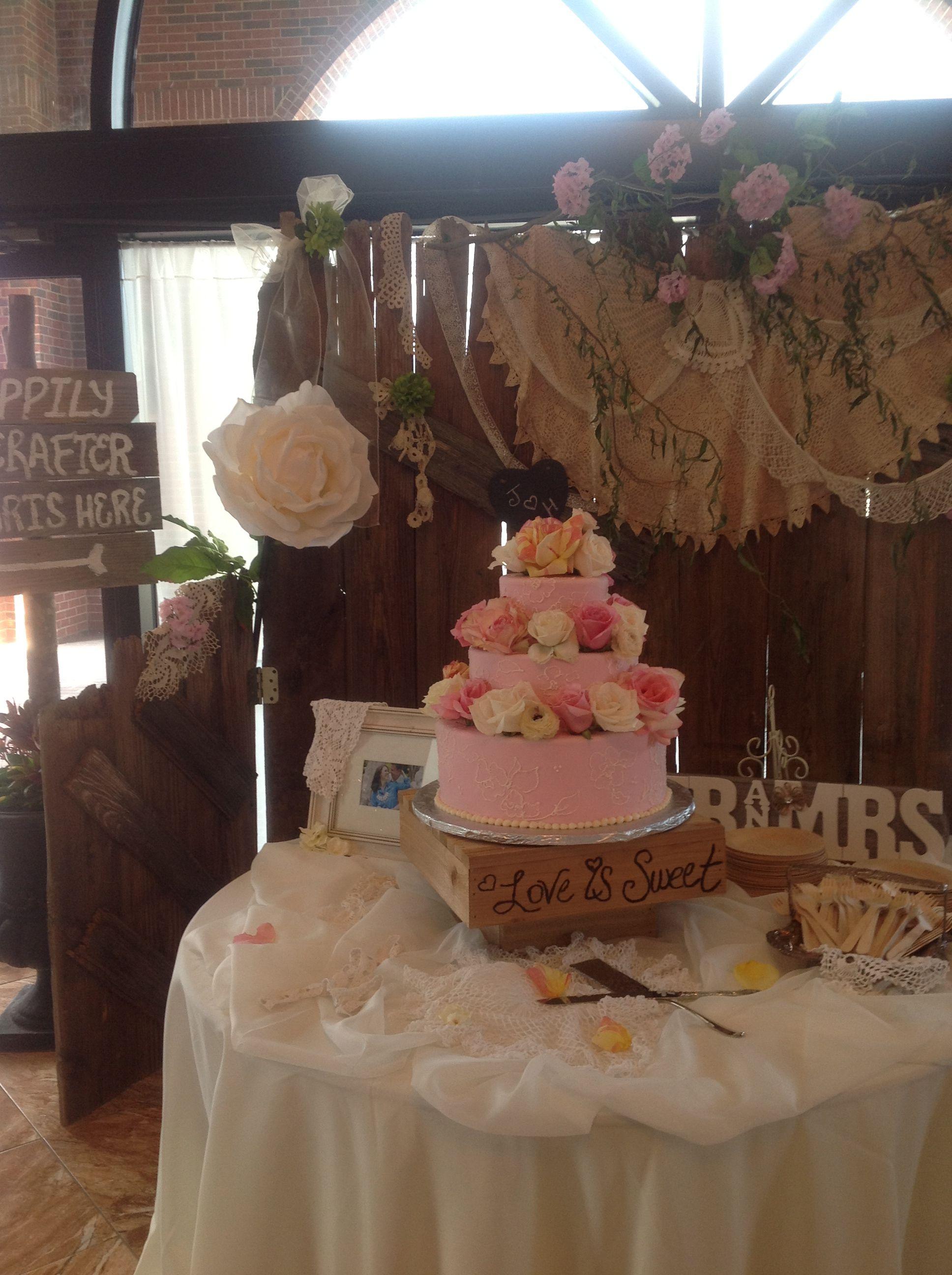 Beautiful Elegant Shabby Chic Rustic Cake Table Rustic Cake Tables Rustic Cake Cake Table