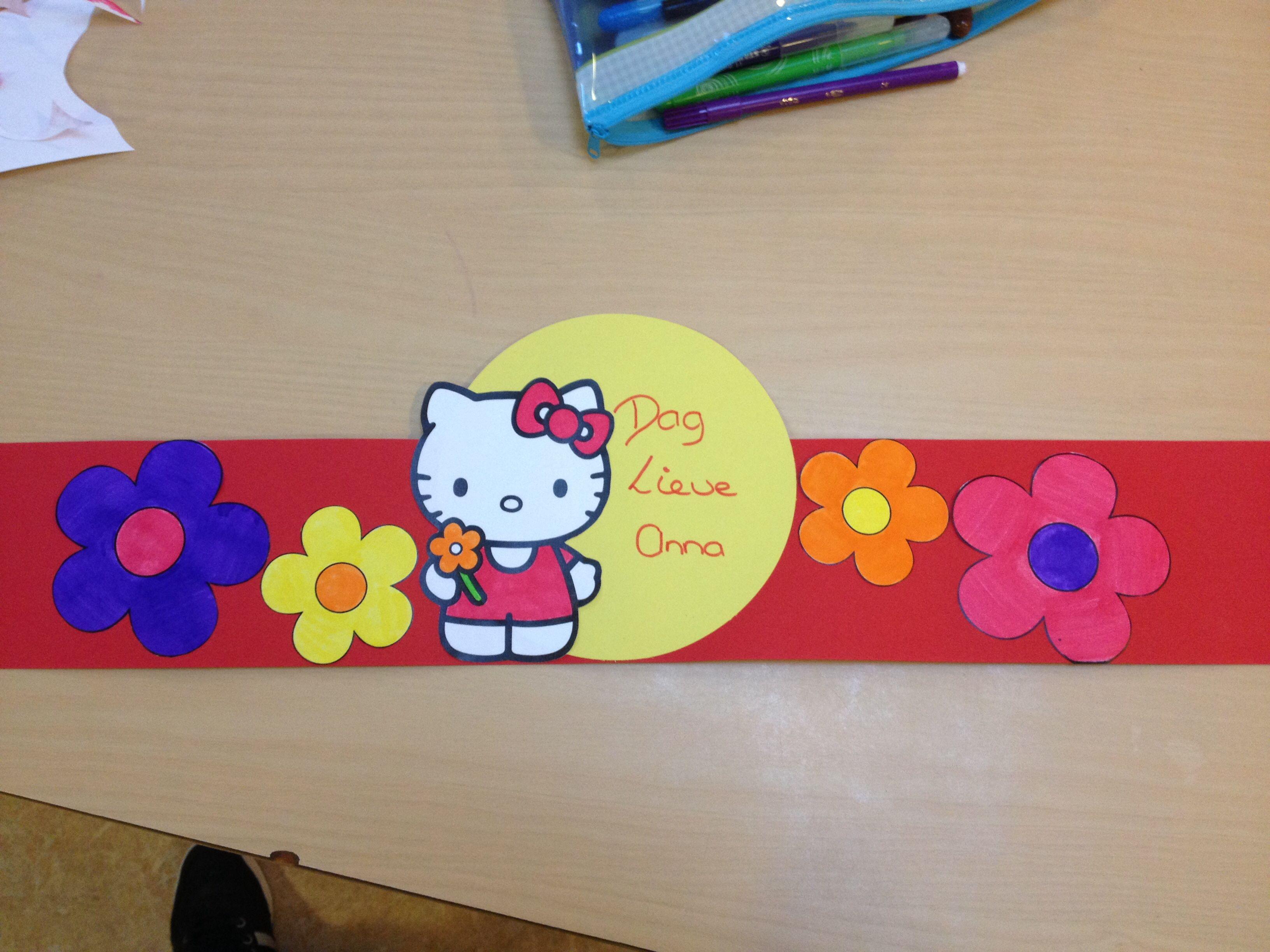 Afscheidsmuts Hello Kitty