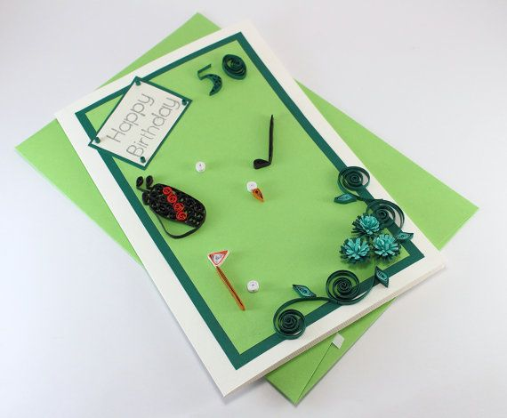Happy 50th Birthday Card For Husband Dad Friend Paper Quilling