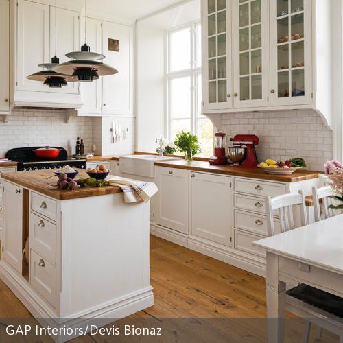Landhausküche mit Block   Ideen für mein Zuhause   Pinterest ...
