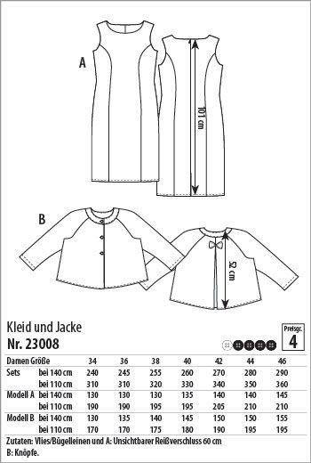 Kleid und Jacke - 23008 - Stoff & Stil