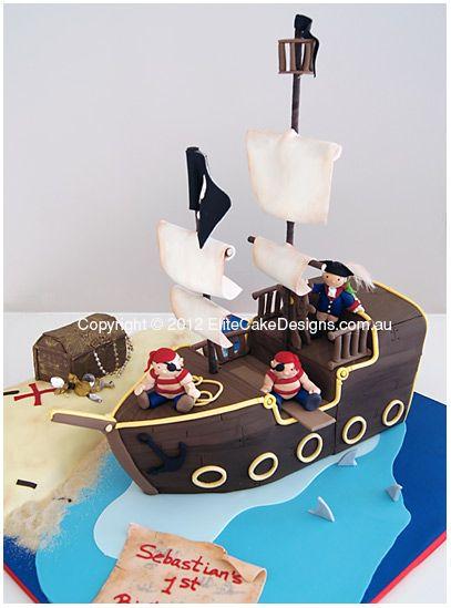 Pirate Theme Boys Birthday Cake Kids Party Original ideas