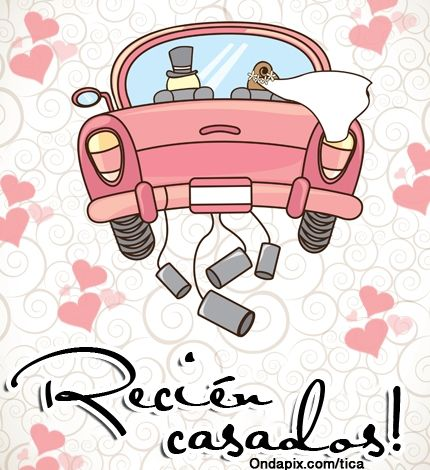 Recien casados matrimonio tarjetitas etiquetas pinterest just married wedding y just - Sorpresas para recien casados ...