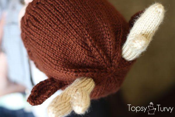 Reindeer Hat Knit Pattern Knit Or Die Pinterest Reindeer Hat