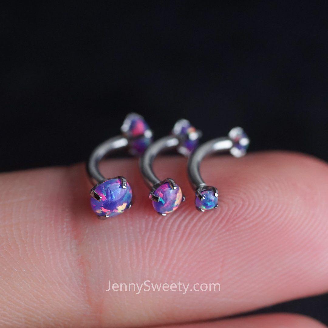 Snug piercing ideas  Triple Opal Daith earring daith piercing g rook earring rook