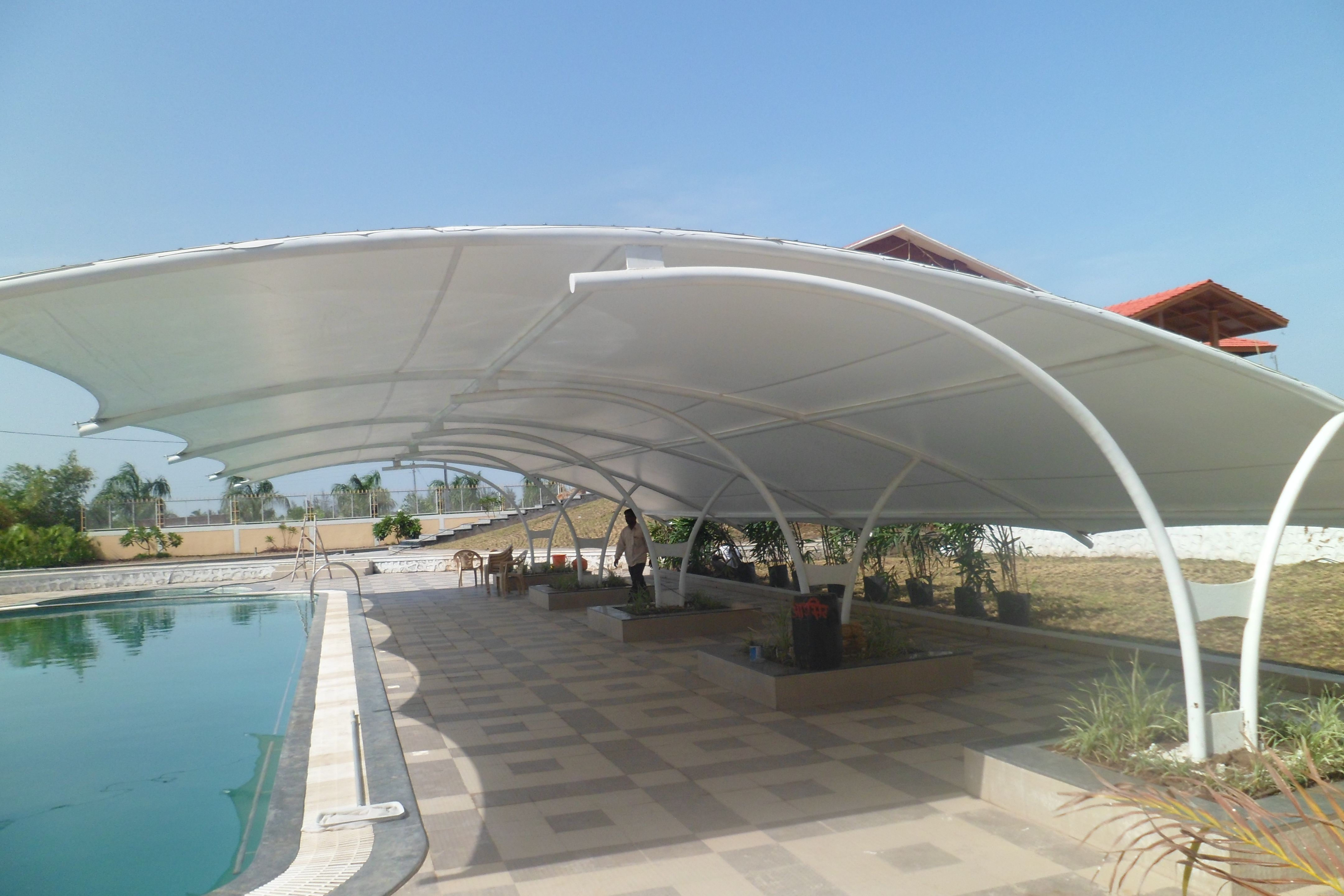 Tensile Structure Tensile Structure For Car Parking