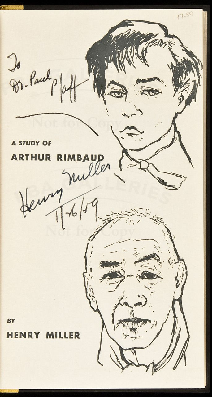 The Time of the Assassins: A Study of Rimbaud by Henry Miller
