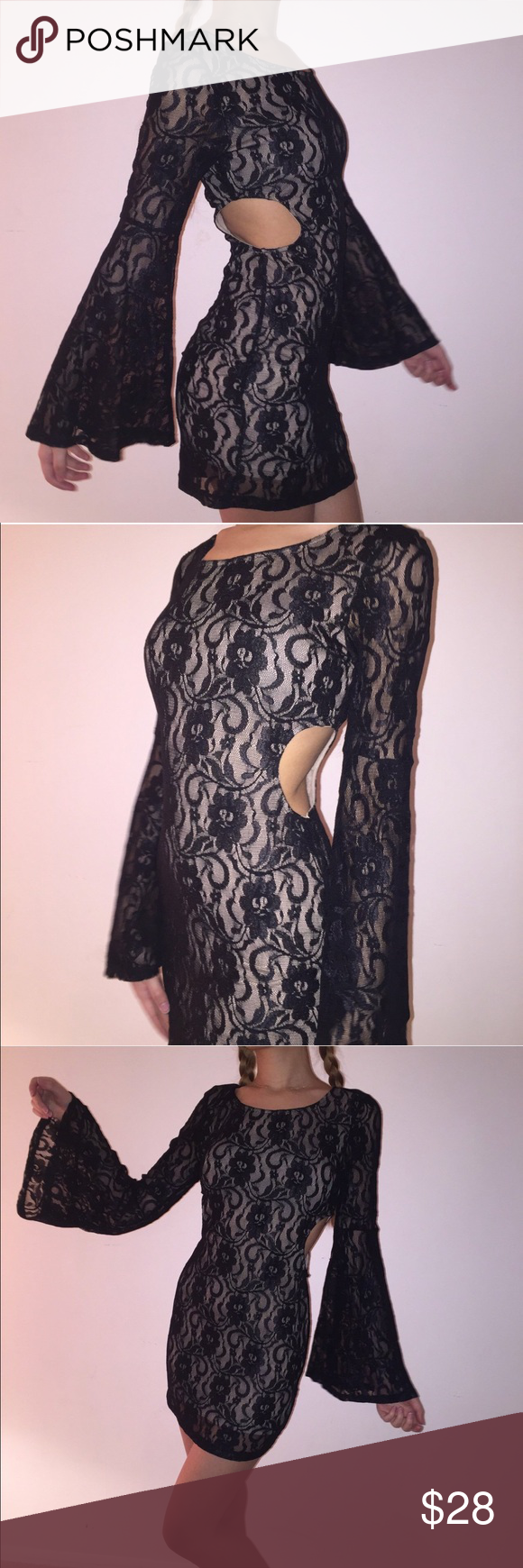 black lace cutout dress forever black lace dress