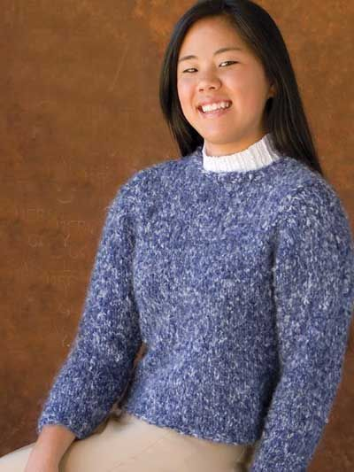 c0da5ea14 Knit Clothing - Long-Sleeved Sweater Knitting Patterns - Simply Simple  Sweater - Free Sweater Knitting Pattern