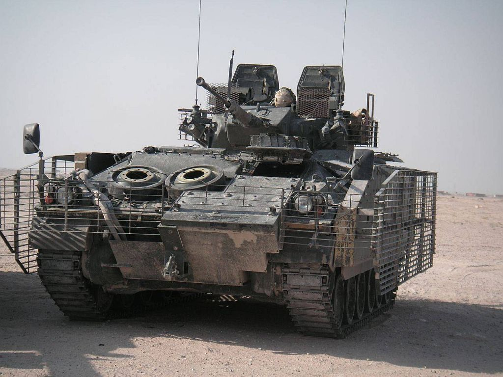 The first modernized warrior 2 infantry fighting vehicles transferred to the British Army 20