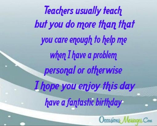Happy Birthday Wishes For Teacher Occasions Messages Birthday Wishes For Teacher Message For Teacher Wishes For Teacher