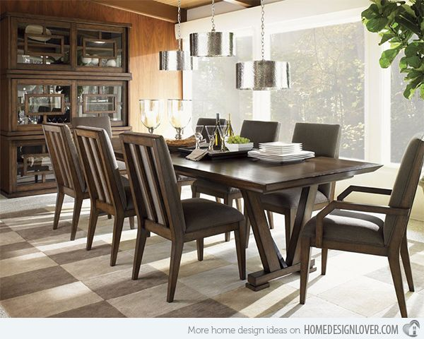 South Pinnacle Dining Table In Chestnut Brown Dining Table Set