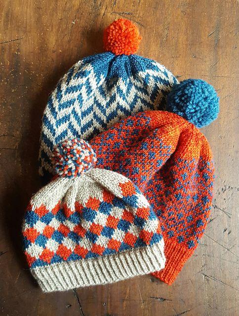 Ravelry  Herringbone Hat pattern by Anne Mizoguchi ~ FREE pattern ~  babe child adult intro to stranding 6f0c8a6794d