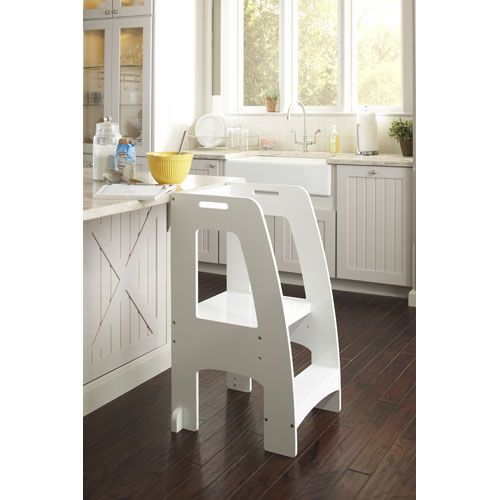 Guidecraft White Step Up Kitchen Helper | Para el hogar, Madera y ...