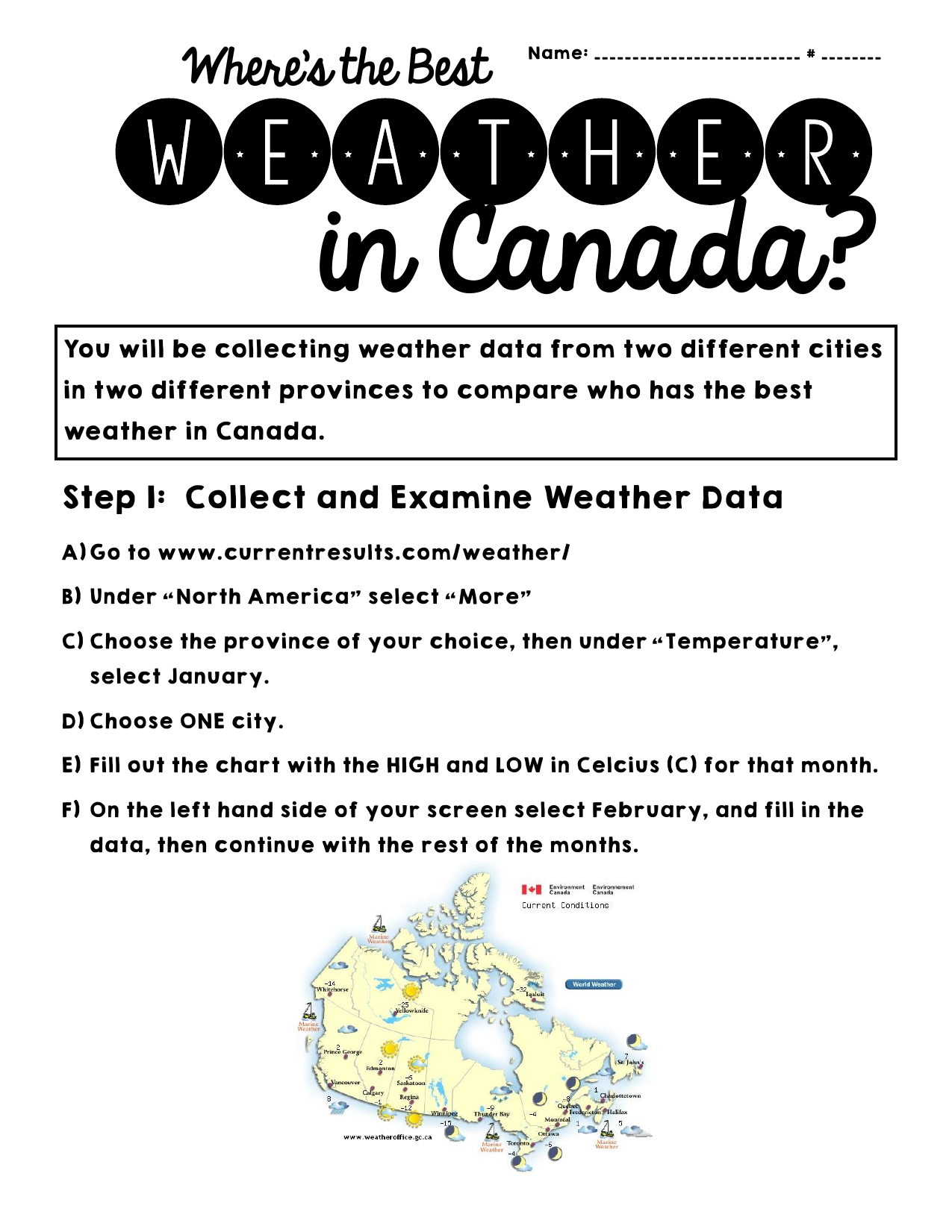 Where Is The Best Weather In Canada Resource Preview Weather Data Weather Lesson Plans